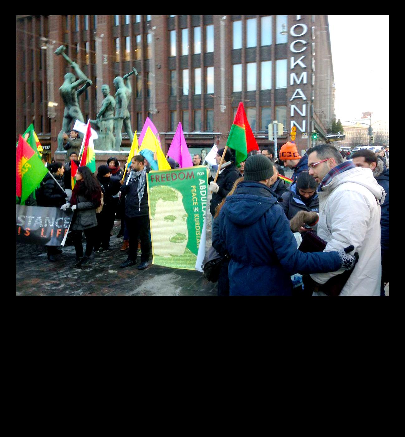 HDP tukimielenosoitusta häiriköitiin