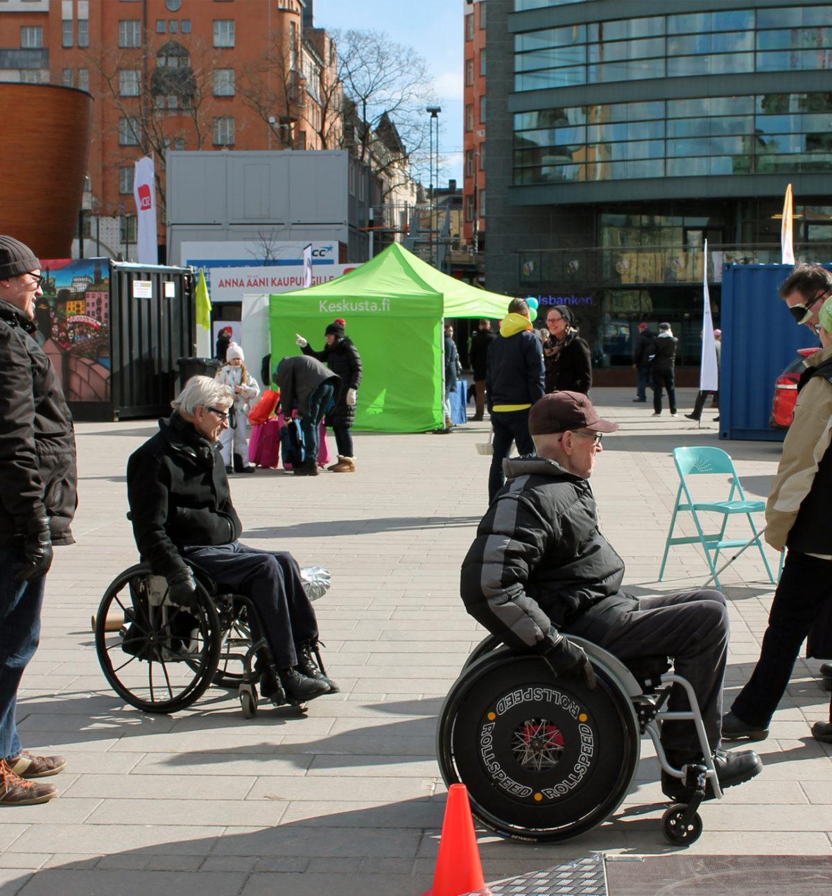 Testaa vamma -tempaus muistutti esteettömyyden tärkeydestä